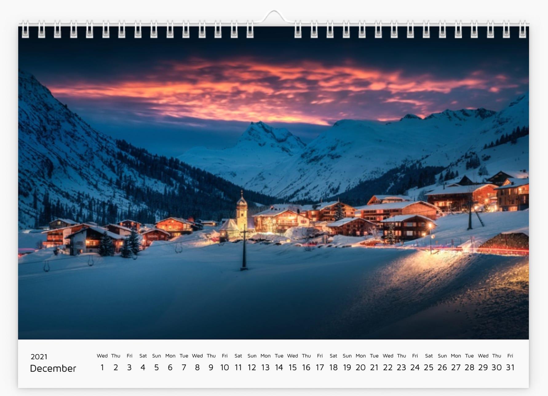 December - Calendar 2021