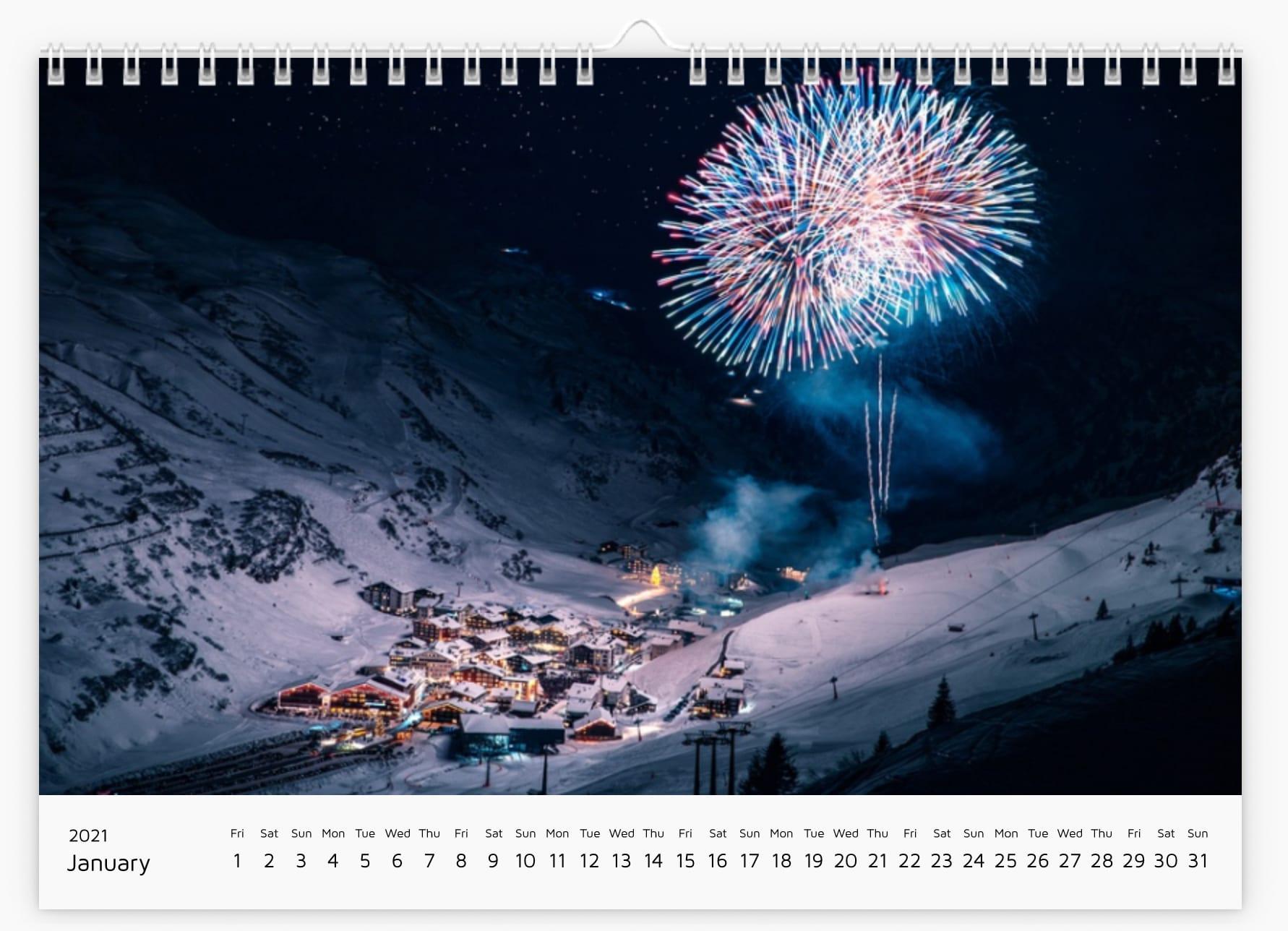 Jänner - Calendar 2021
