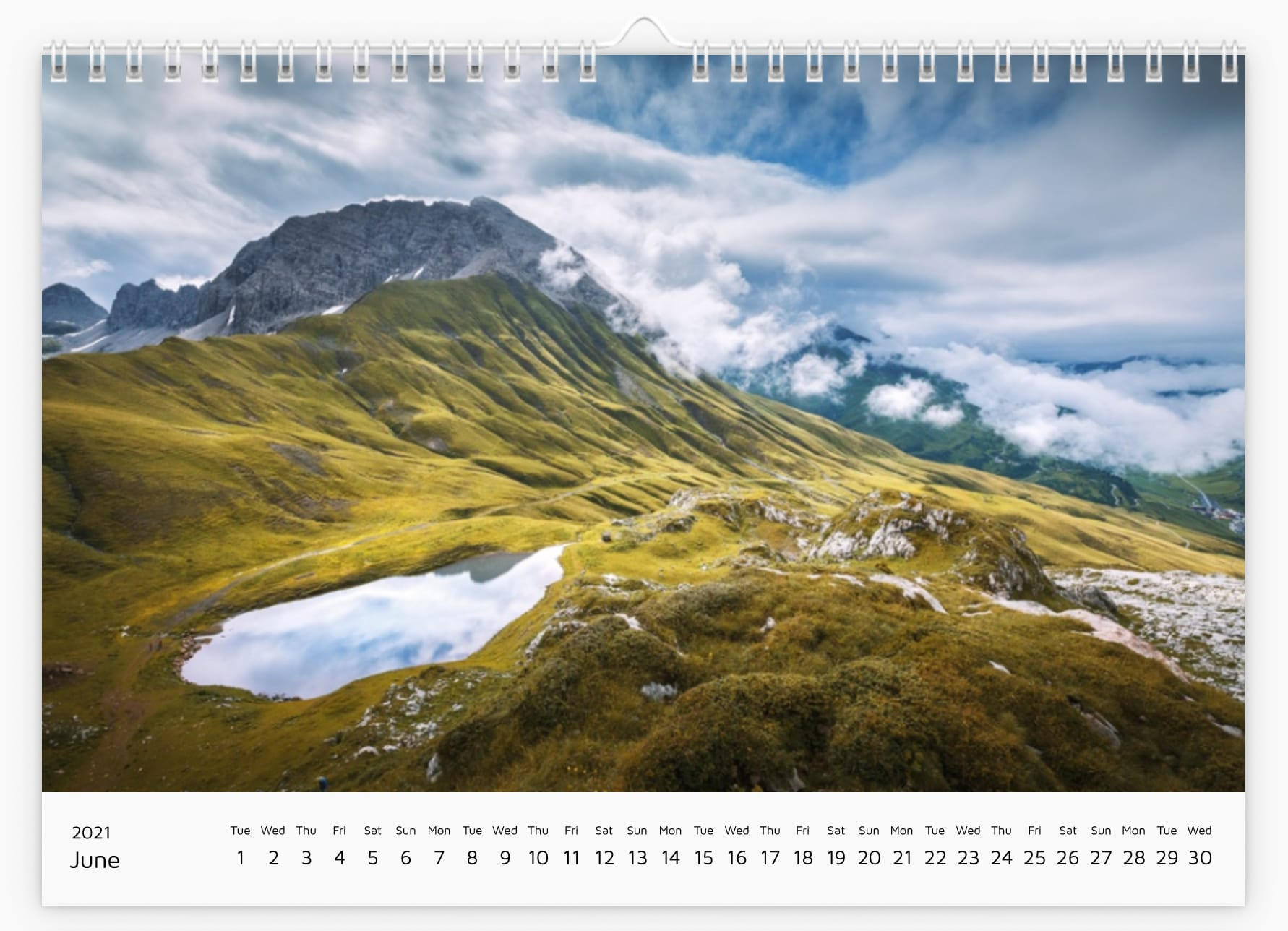 June - Calendar 2021
