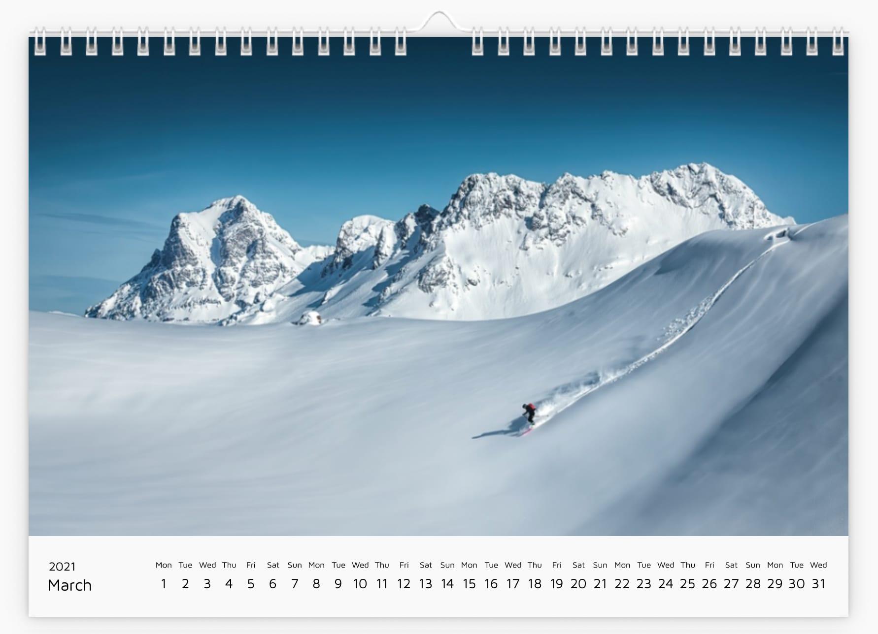 March - Calendar 2021