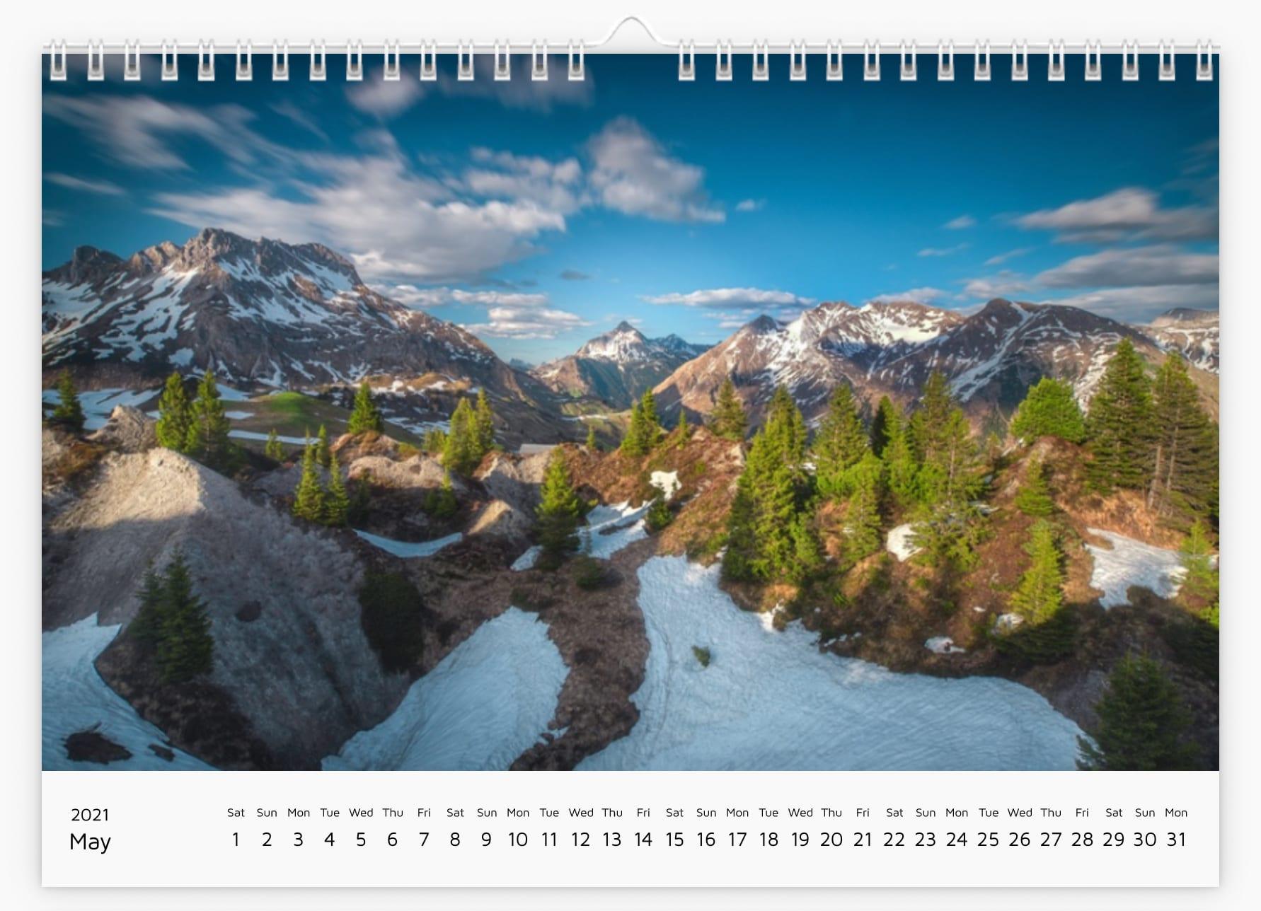 May - Calendar 2021