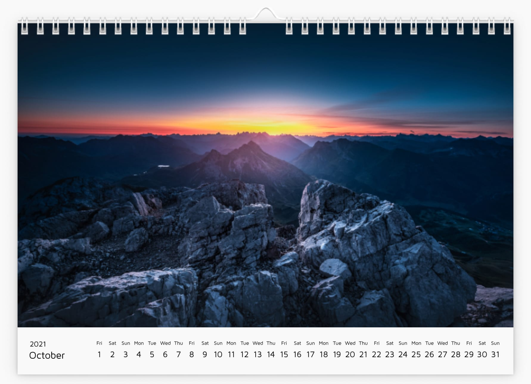 October - Calendar 2021