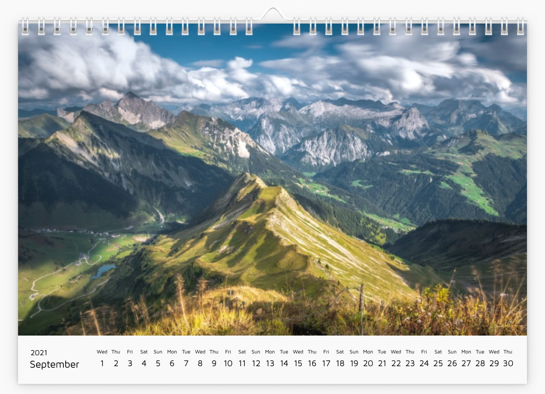 September - Calendar 2021