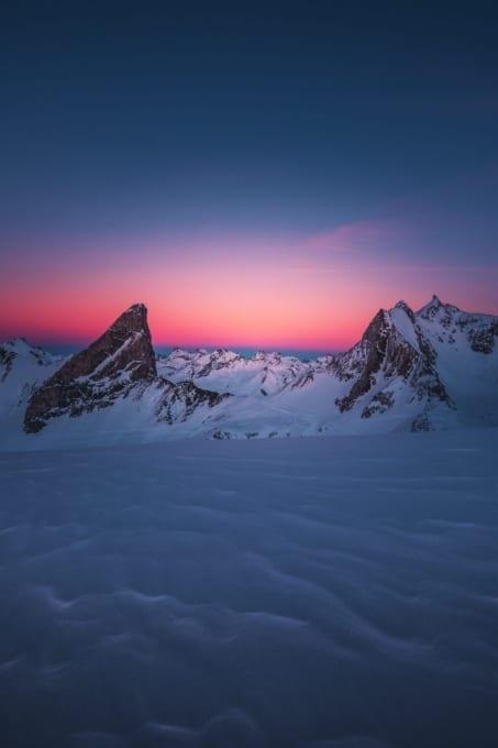 Zürs Sonnenuntergang 453x680 - Lech-Zürs am Arlberg